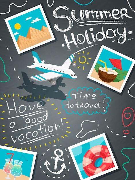 Concept de design de vacances d'été Vecteur gratuit