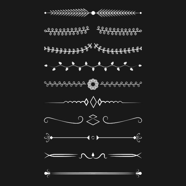 Concept de design vecteur collection ornements Vecteur gratuit