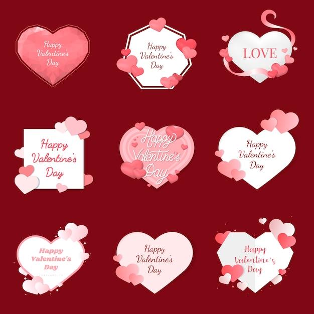 Concept de design de vecteur saint valentin Vecteur gratuit