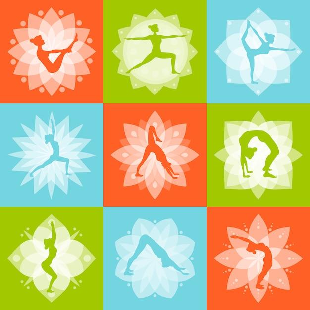 Concept de design de yoga Vecteur gratuit