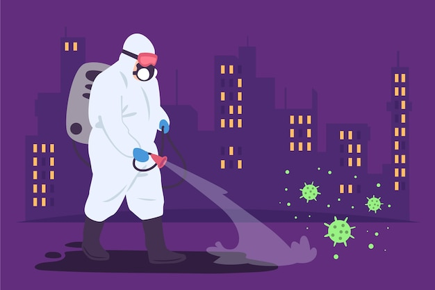 Concept De Désinfection Par Virus Vecteur gratuit
