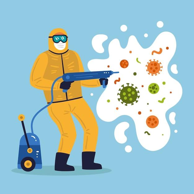 Concept De Désinfection Par Virus Vecteur Premium