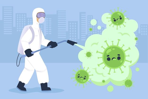 Concept De Désinfection Virale Vecteur gratuit