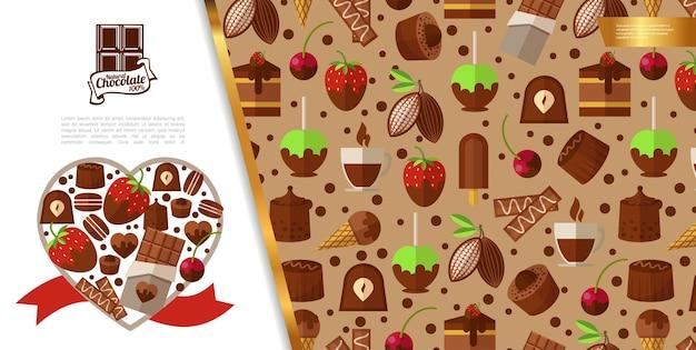 Concept De Desserts Sucrés Plats Vecteur gratuit