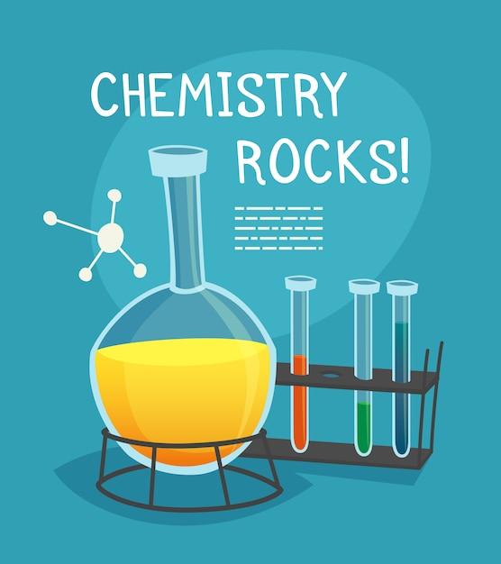 Concept de dessin animé de laboratoire de chimie Vecteur gratuit
