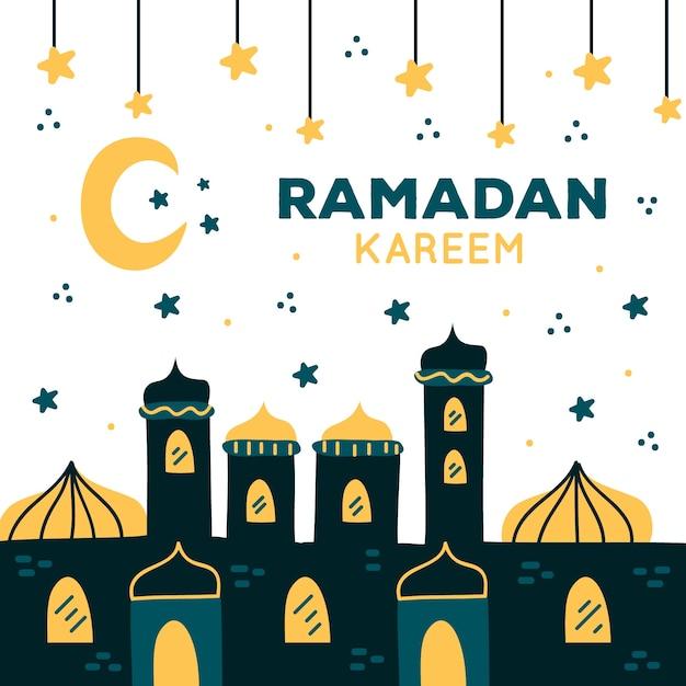 Concept De Dessin Ramadan Vecteur gratuit