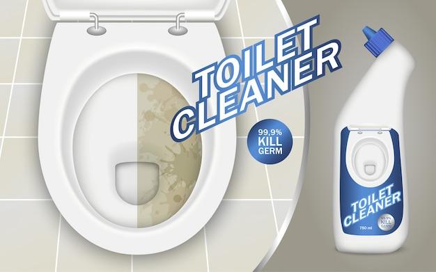 Concept de détergent de toilette Vecteur Premium