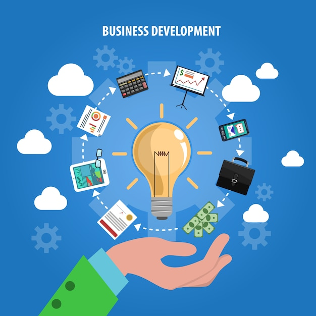 Concept de développement commercial Vecteur gratuit