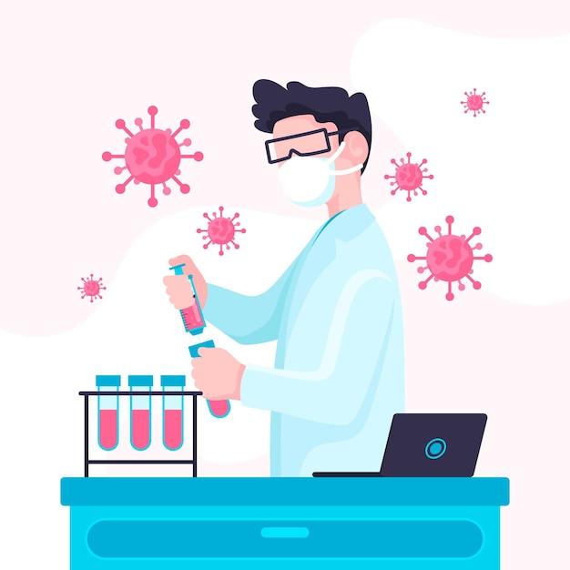 Concept De Développement D'un Vaccin Contre Le Coronavirus Vecteur gratuit