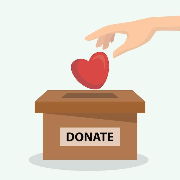 Concept de donation de coeur et d'organe, peut être utilisé pour l'affiche et l'arrière-plan Vecteur Premium