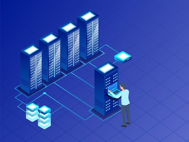 Concept de données volumineuses Vecteur Premium