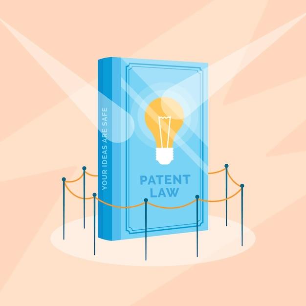 Concept De Droit Des Brevets Design Plat Vecteur gratuit