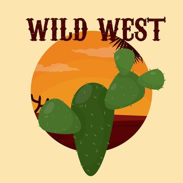 Concept du far west Vecteur Premium