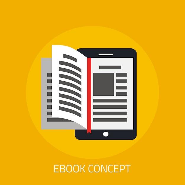 Concept d'ebook avec page de livre de retournement Vecteur Premium