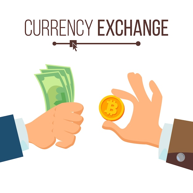Concept d'échange de monnaie Vecteur Premium