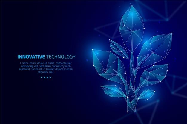 Concept D'écologie Technologique Avec Des Feuilles Vecteur gratuit