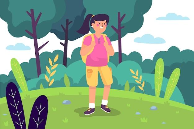 Concept D'écotourisme Illustré Vecteur gratuit