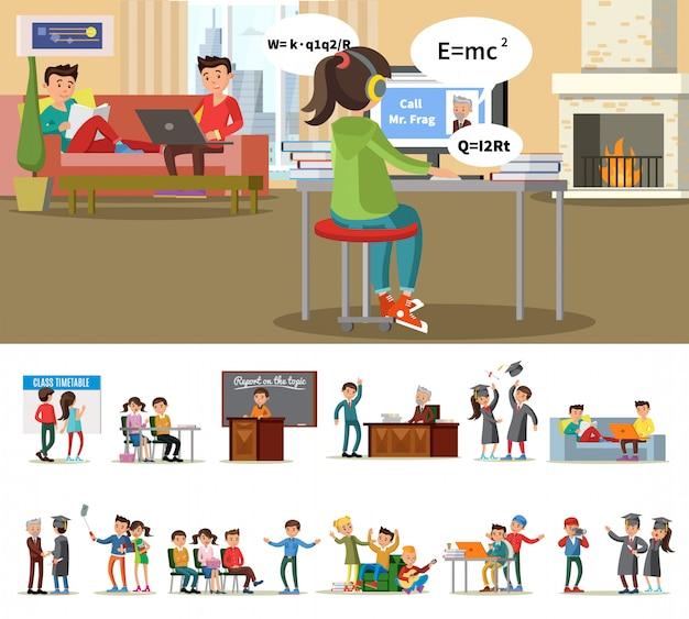 Concept D'éducation Et D'apprentissage Vecteur gratuit