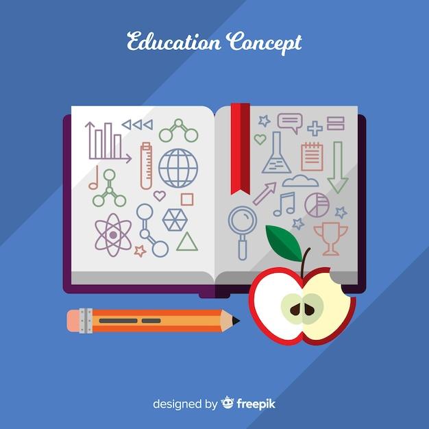 Concept de l'éducation belle avec un design plat Vecteur gratuit