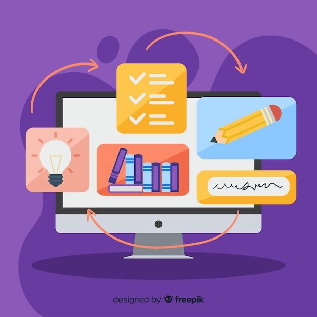 Concept d'éducation en ligne Vecteur gratuit