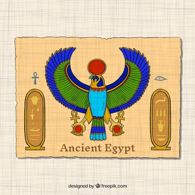 Concept de l'egypte antique dessinés à la main Vecteur gratuit