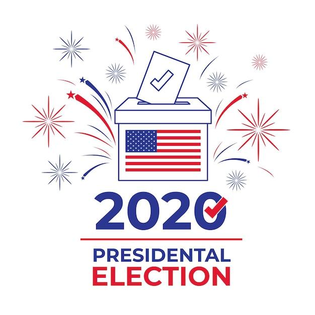 Concept De L'élection Présidentielle Américaine 2020 Vecteur Premium