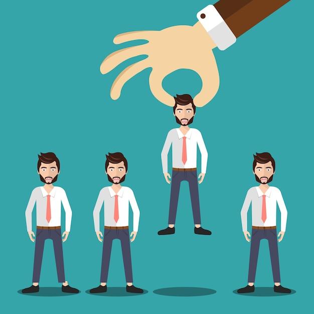 Concept D'embauche Et De Recrutement Vecteur gratuit