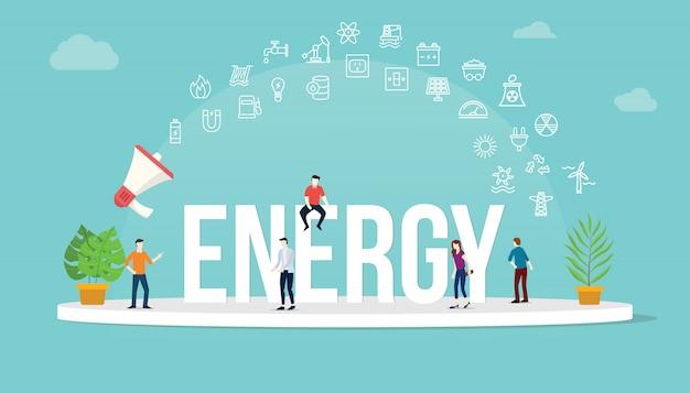 Concept énergétique Vecteur Premium