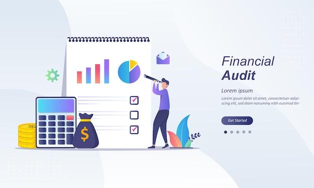 Concept D'entreprise D'audit Financier Vecteur Premium