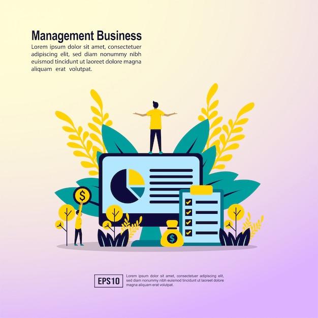 Concept d'entreprise de gestion Vecteur Premium