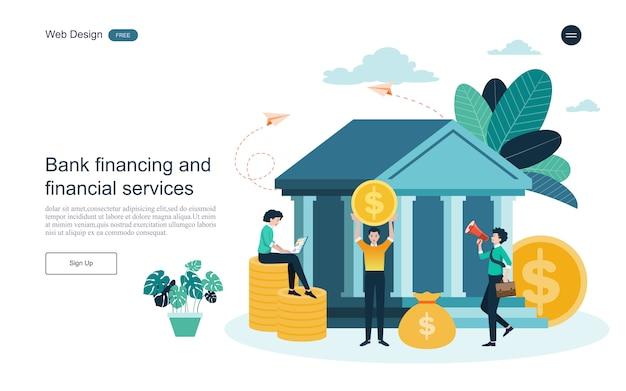 Concept D'entreprise Pour La Banque En Ligne Vecteur Premium