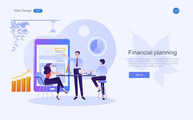 Concept d'entreprise pour le marketing et le travail d'équipe. Vecteur Premium