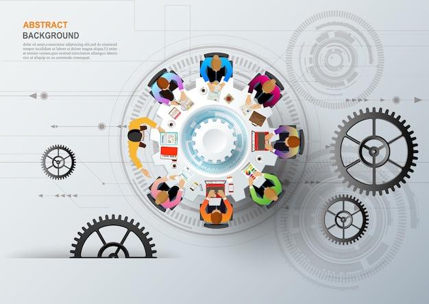 Concept d'entreprise pour le travail d'équipe. Vecteur Premium