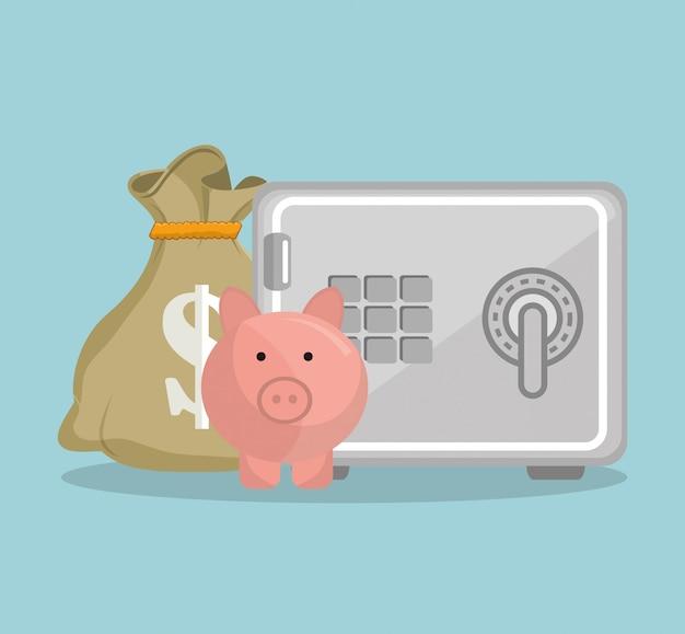 Concept D'épargne Et D'argent Vecteur gratuit