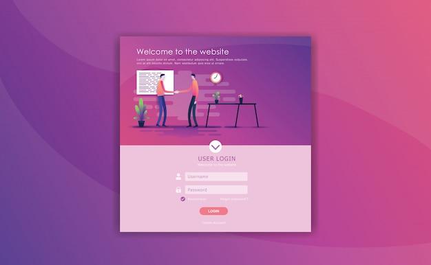 Concept d'équipe d'entreprise Vecteur Premium