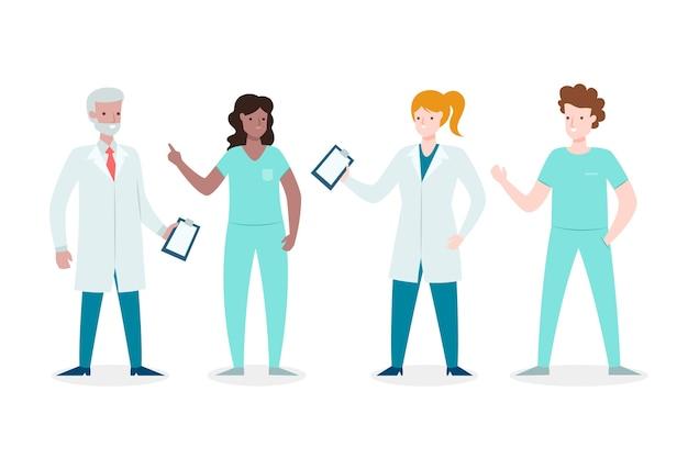 Concept D'équipe Professionnelle De La Santé Vecteur gratuit