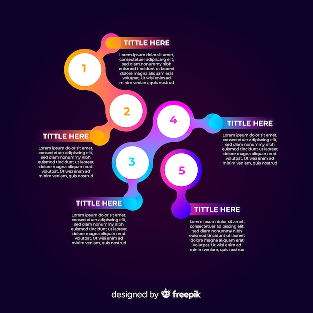 Concept d'étapes infographie gradient créatif Vecteur gratuit