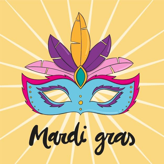 Concept D'événement De Mardi Gras Dessiné à La Main Vecteur gratuit