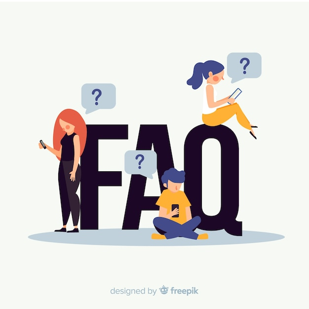 Concept de faq Vecteur gratuit