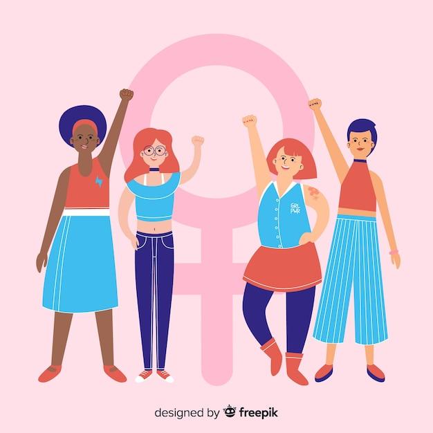 Concept de féminisme Vecteur gratuit