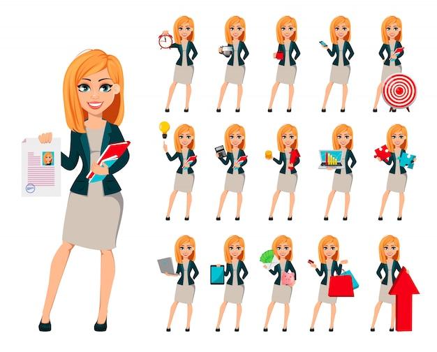 Concept de femme d'affaires moderne Vecteur Premium