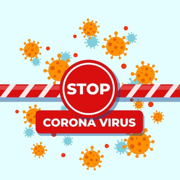 Concept De Fermeture De Frontière De Coronavirus Vecteur gratuit