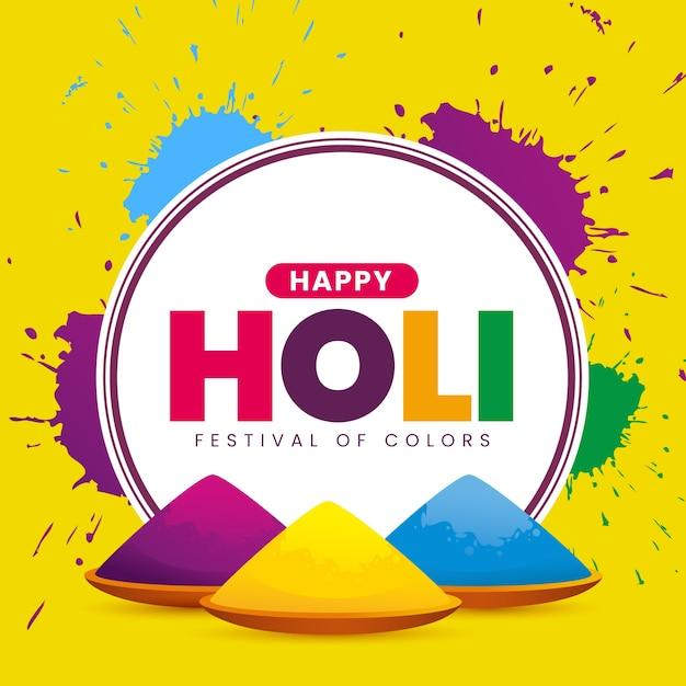 Concept De Festival Holi Réaliste Vecteur gratuit