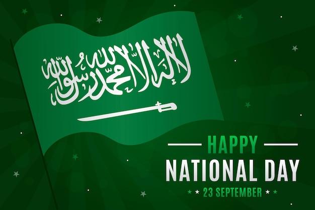 Concept De La Fête Nationale Saoudienne Vecteur gratuit