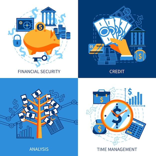 Concept Financier Vecteur gratuit