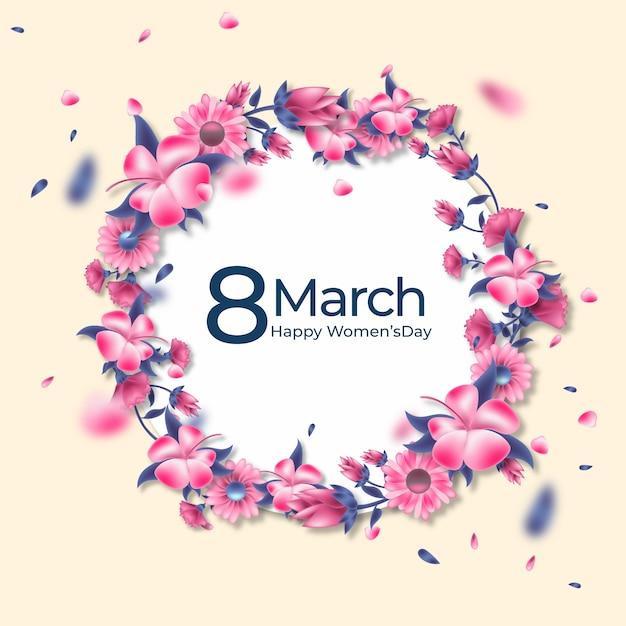Concept Floral De La Journée Des Femmes Vecteur gratuit