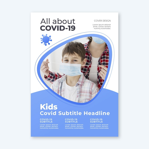 Concept De Flyer Informatif Sur Le Coronavirus Vecteur gratuit