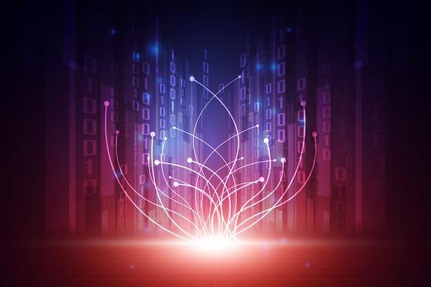Concept de fond abstrait technologie futuriste de vecteur Vecteur Premium