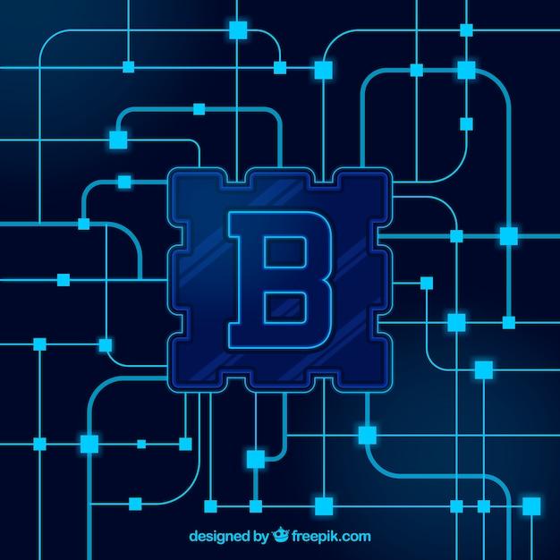 Concept de fond de blockchain Vecteur gratuit