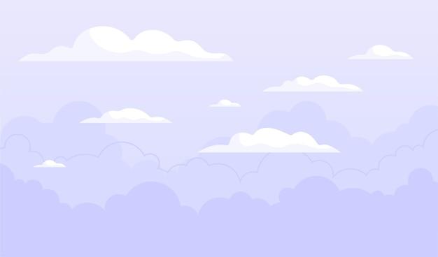 Concept De Fond De Ciel Vecteur gratuit